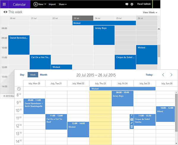 calendar syncronization with outlook
