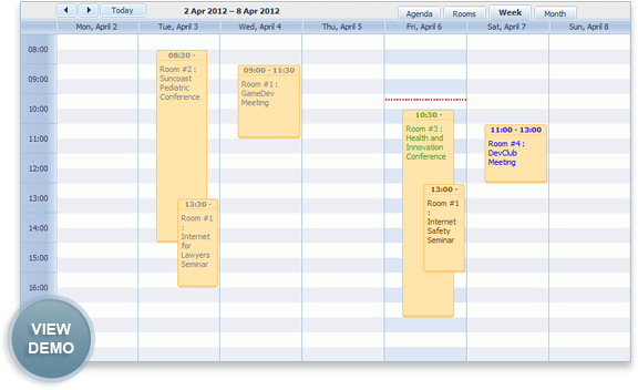 booking calendar aspx