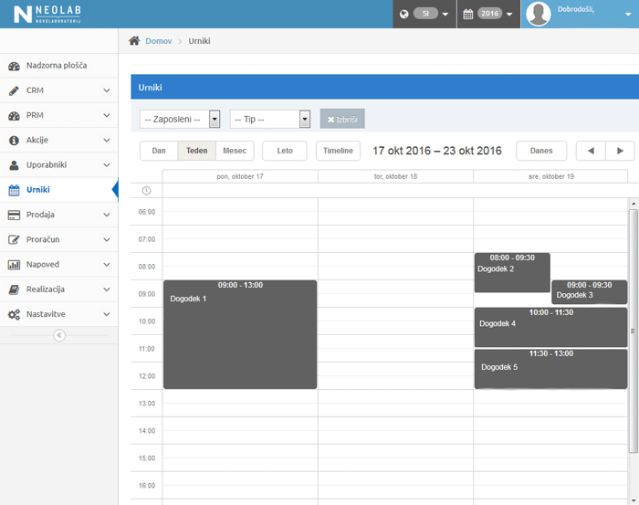 scheduling tool for finance