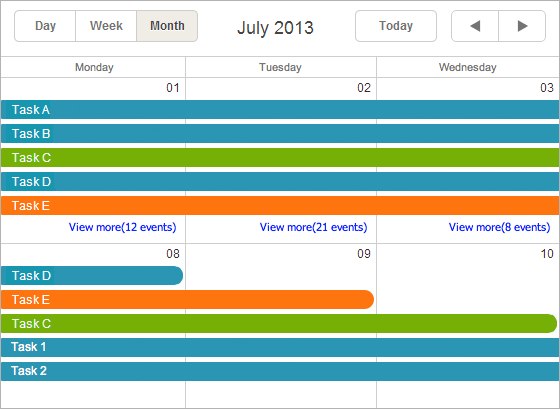 limit events in month view