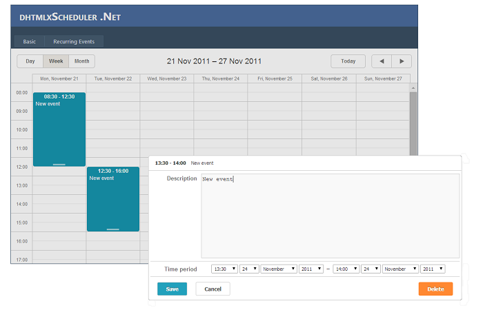 asp net scheduler in web forms