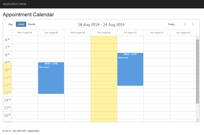 DHTMLX Scheduler .NET | 7 Steps To Appointment Calendar ...